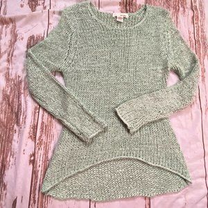 San Souci loose knit sweater-mint-size Medium